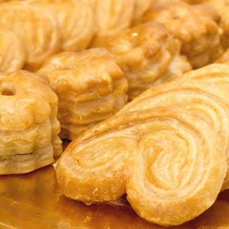 Palmeras y rosquillas artesanas de Dulces Galicia de Tordesillas