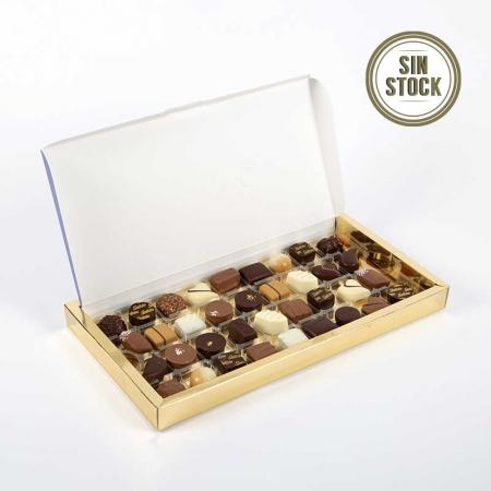 Caja de bombones artesanos de chocolate, pralinés y ganaches para comprar online sin stock