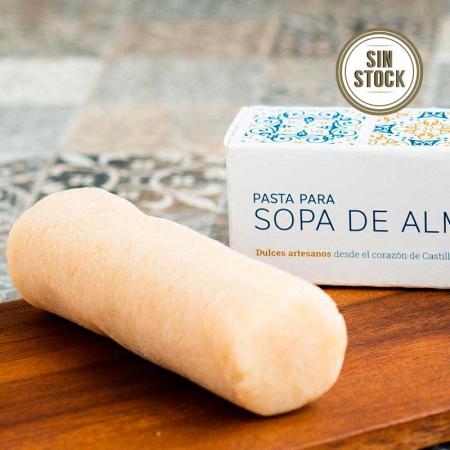 Detalle de la pasta para sopa de almendra sin stock de pastelería Galicia en Valladolid, edición 2019
