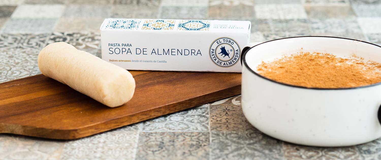 Pasta de almendra artesana para comprar online y para hacer sopa de almendras de Valladolid