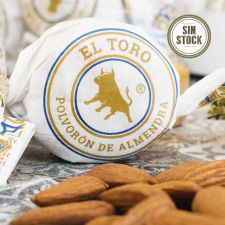 Detalle del polvorón de almendra marcona El Toro para comprar online, sin stock ahora mismo