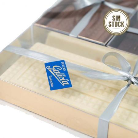Turrón praliné de chocolate blanco artesanal para comprar online sin stock