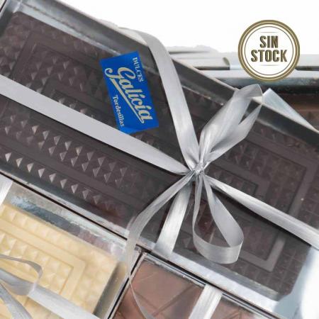 Turrón praliné de chocolate negro artesanal para comprar online sin stock
