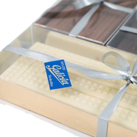 Turrón praliné de chocolate blanco artesanal para comprar online