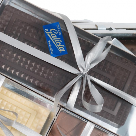 Turrón praliné de chocolate negro artesanal para comprar online